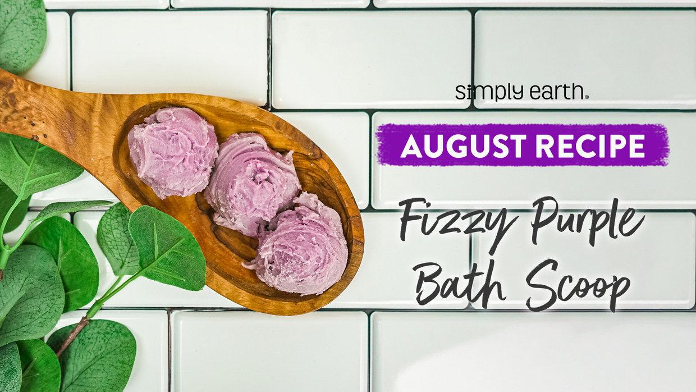 Fizzy Purple Bath Scoop